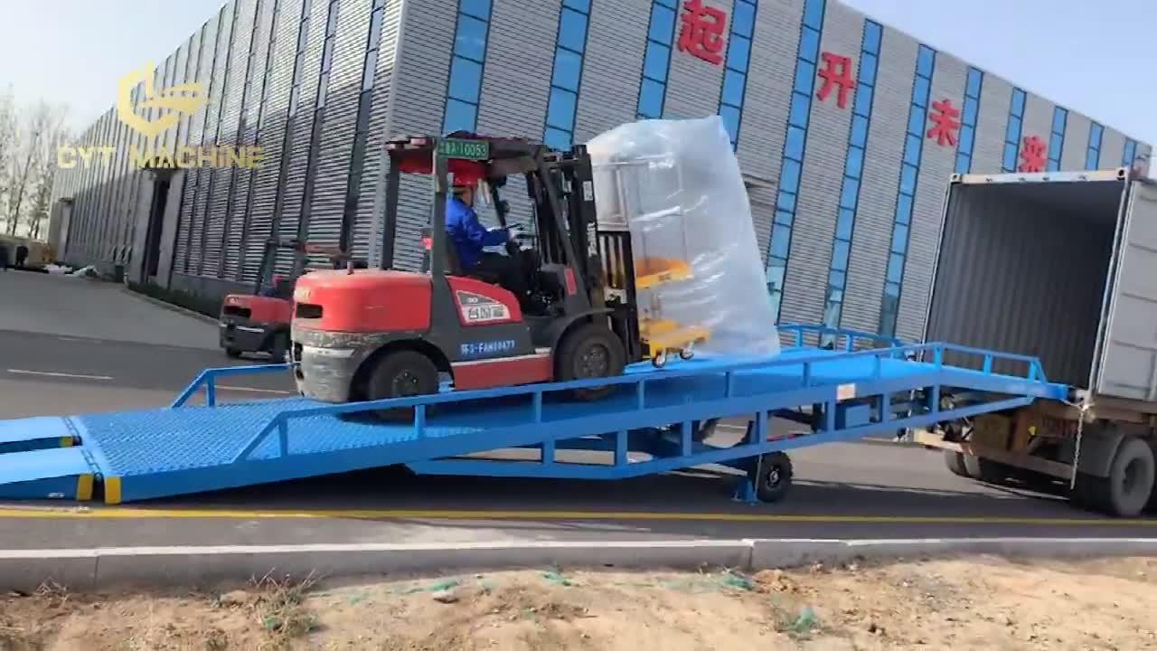 المنقولة 6 طن 1.8M رفع ارتفاع الهيدروليكية شاحنة تحميل ساحة حوض المنحدر