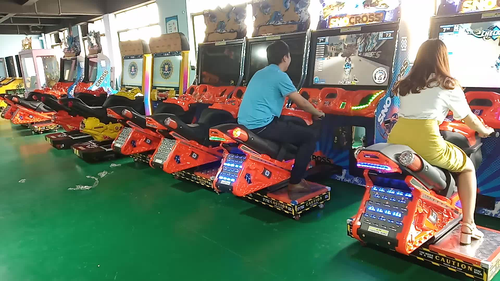 Snocross motor simulator ride coin operated arcade driving game machine