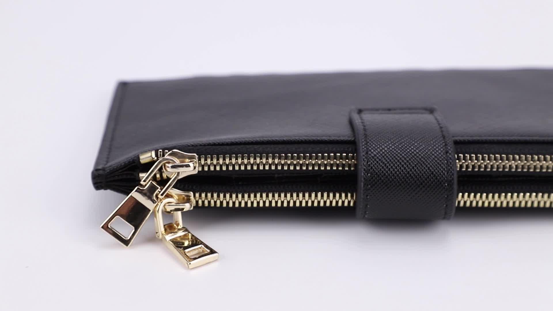 Echt Leer Duurzaam Lange Clutch Wallet Voor Vrouwen Telefoon