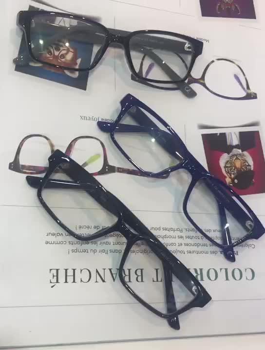 वानजाउ थोक मुफ्त शिपिंग एसीटेट Eyewear विरोधी नीले प्रकाश अवरुद्ध चश्मा ऑप्टिकल फ्रेम