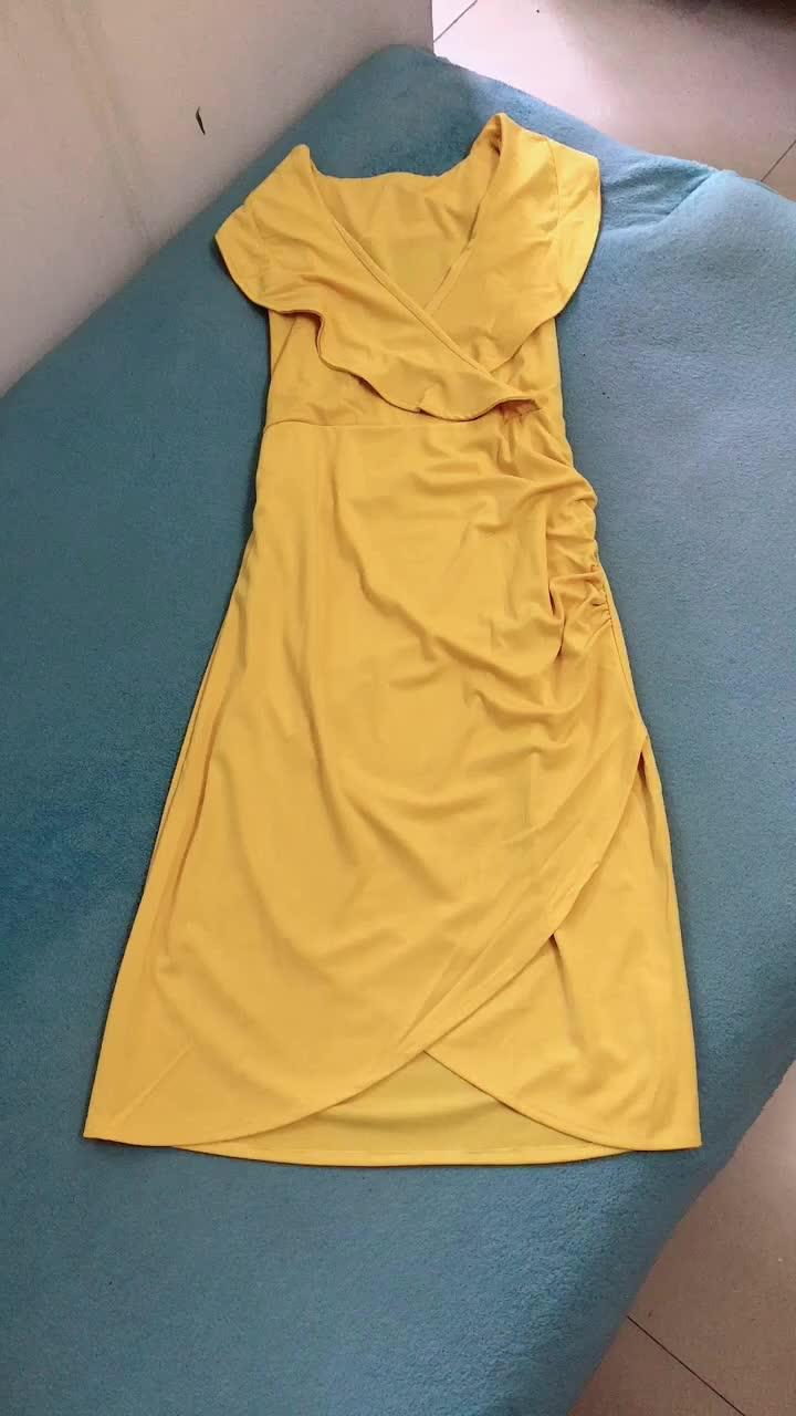 Sexy v-neck sleeveless women dresses plus size women's clothing dress