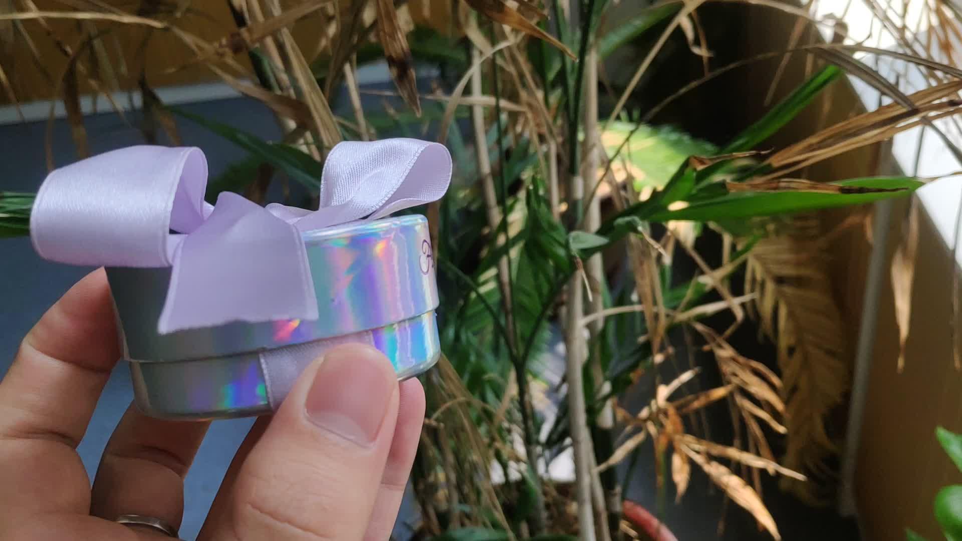 Custom eyelash packaging box private label custom round  false eyelash packaging box with low MOQ