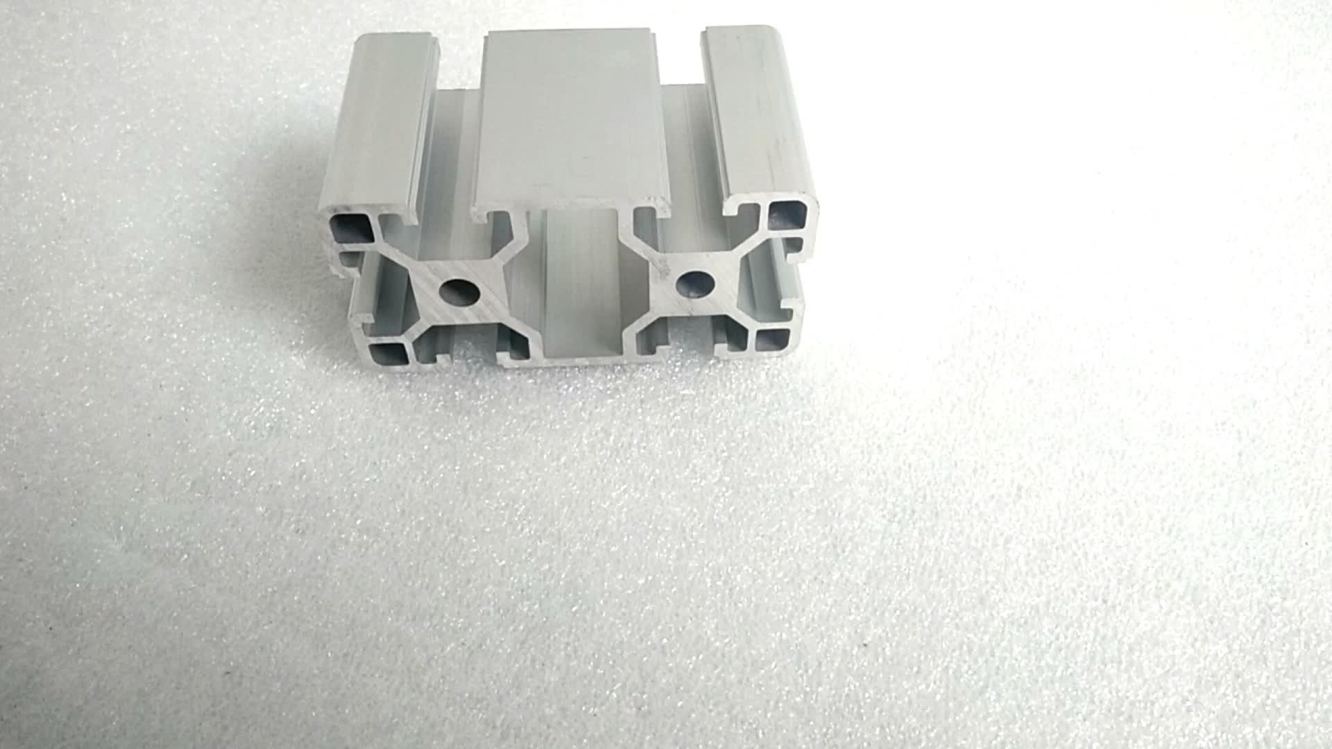 टी स्लॉट 4040 श्रृंखला औद्योगिक एल्यूमीनियम प्रोफ़ाइल 40x40mm बाहर निकालना 6063 t5 मानक बड़े एल्यूमीनियम प्रोफाइल extrusions