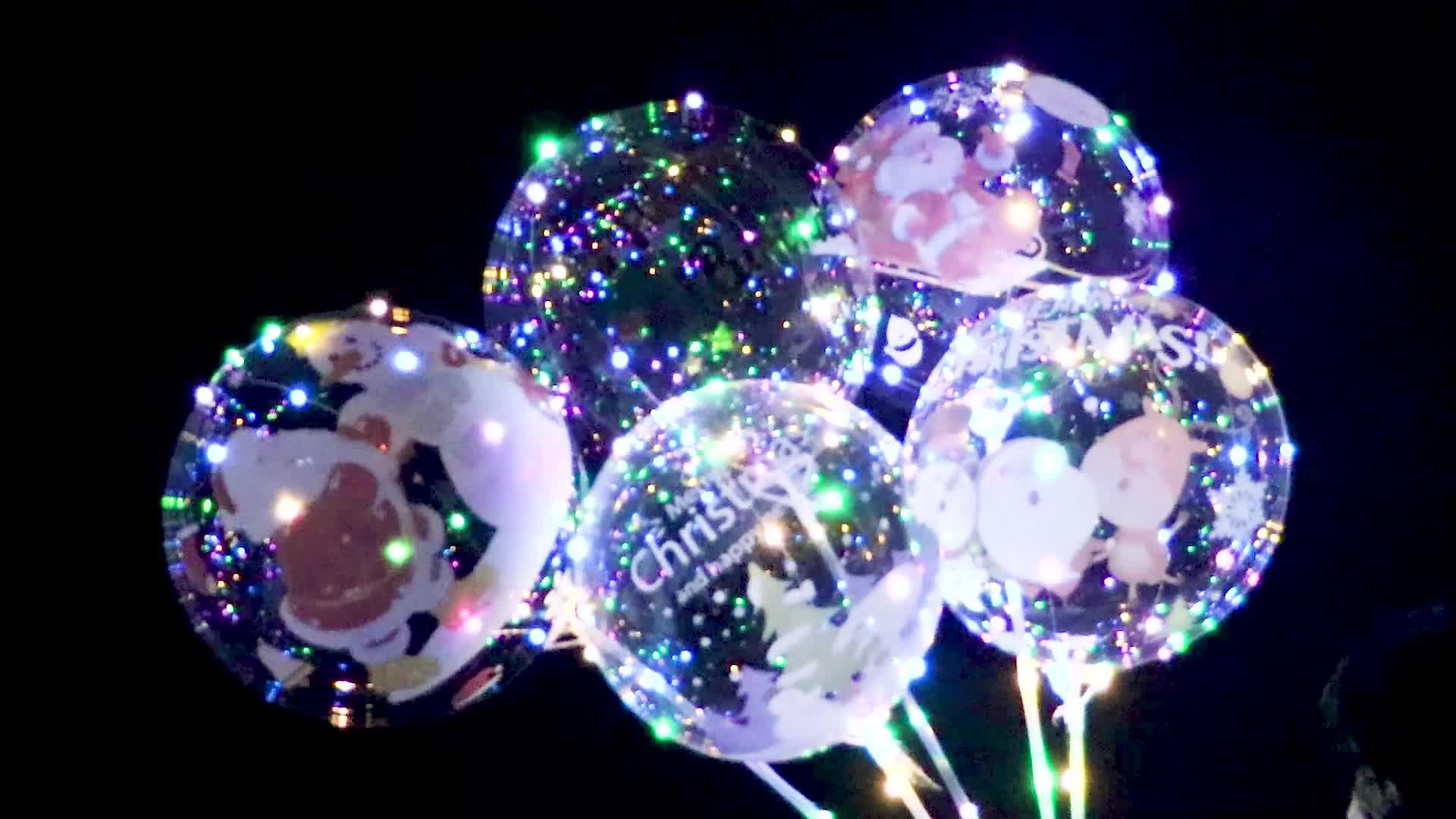 High Quality Custom Bobo Ballon 18/20 Inches Colorful LED Balloon Light flashing balon New Year Wedding Party Decoration globos