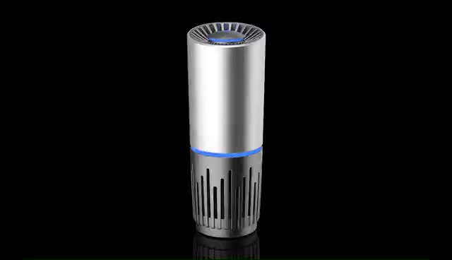 car ionizer air purifier with hepa filter USB Battery Powered  cup shaped Ozone Generator Negative Ion Air Cleaner Portable