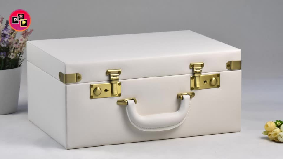 Chinese new year gift box suitcase handle parts portable suitcase