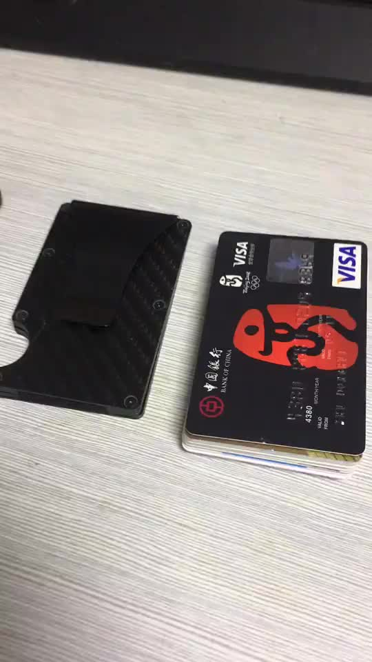JUNYUAN Bank Card Box With Metal Wallet Anti-magnetic Anti-theft