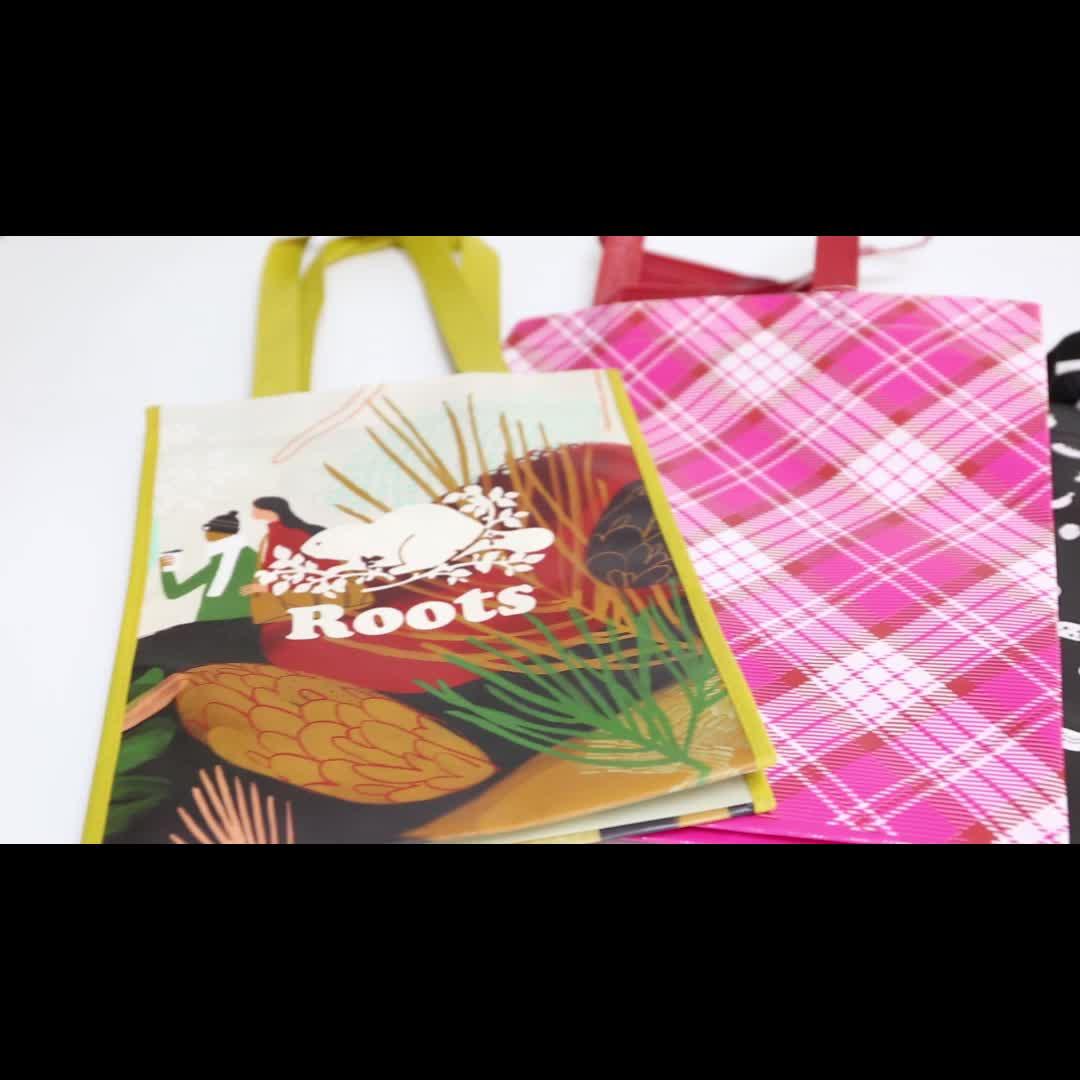 生分解性不織布ショッピングバッグ TNT 材料/プロモーションポリプロピレン不織布バッグ/不織布トートバッグカナダ