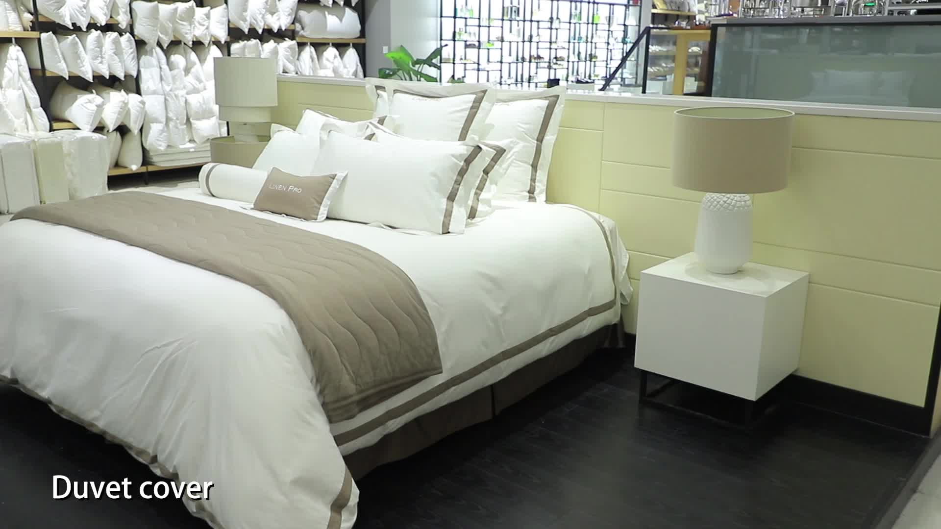 Fitted Bed Sheet Set Party White 5 Star Luxury Used Hotel Linen For Sale