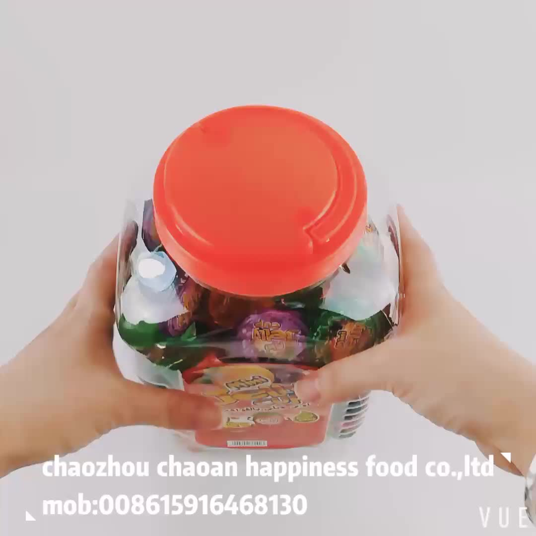 square jar halal mini fruit flavor jelly cup candy for children
