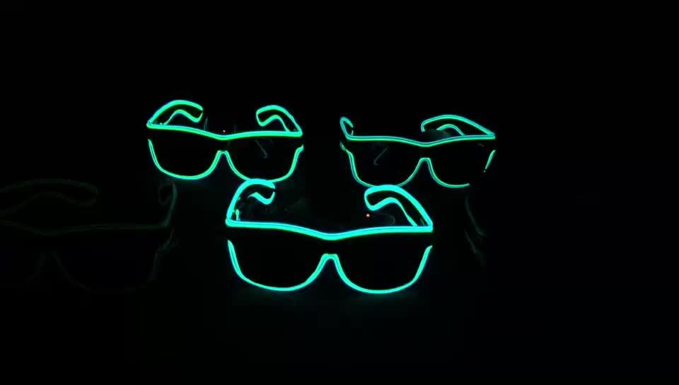 Çin tedarikçisi ses aktif Hediye Parti Dekorasyon Fantezi Parlayan EL Tel LED Neon rave Gözlük Kostüm Gece Kulübü Parti