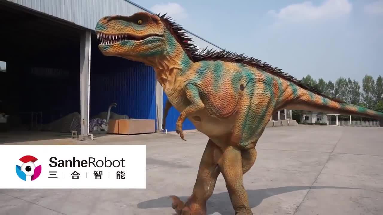 La vida profesional de tamaño disfraz de dinosaurio realista