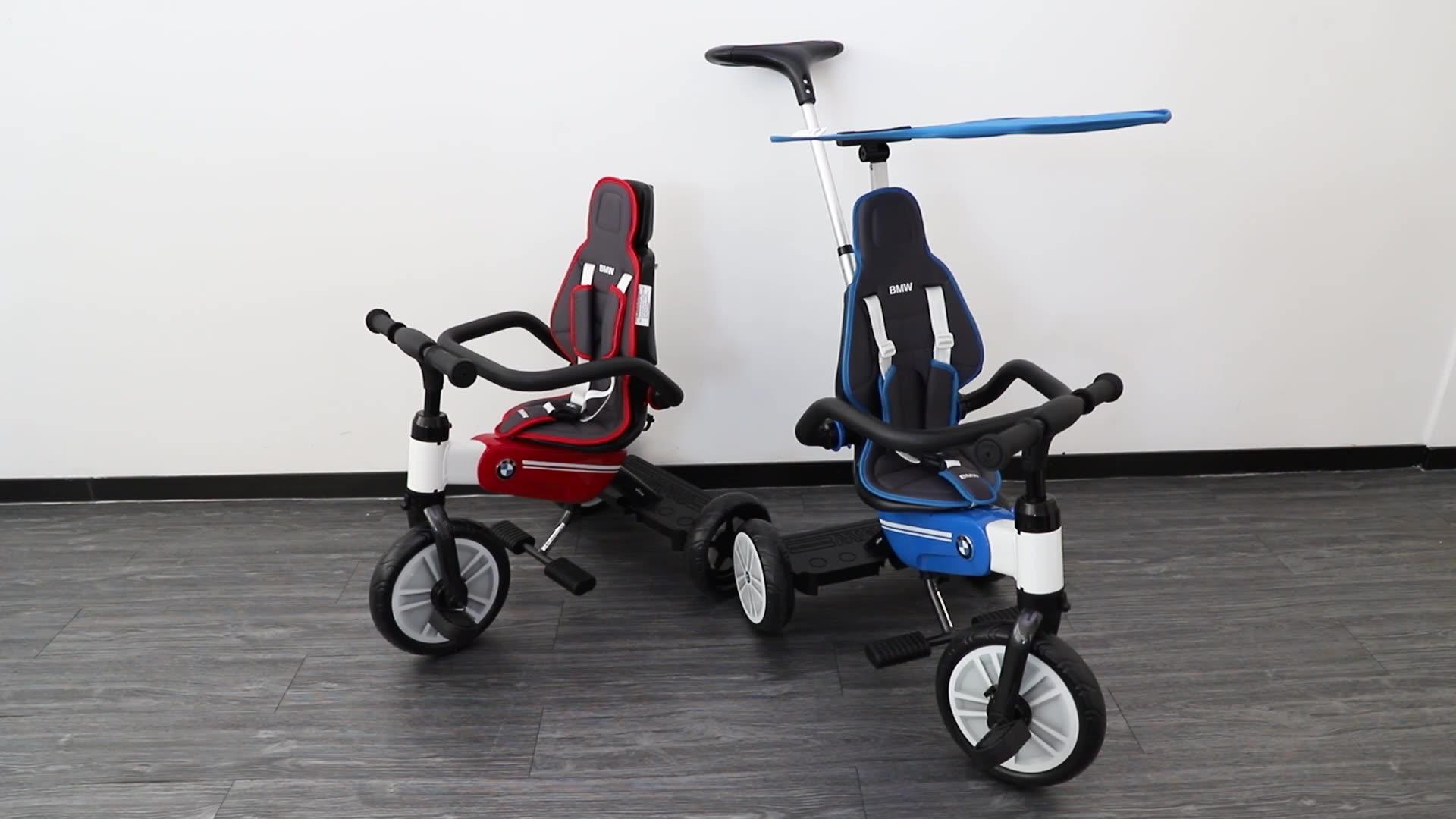 RASTAR सवारी खिलौना बीएमडब्ल्यू 3 के लिए पहिया डिजाइन बच्चों बच्चे तह tricycle बच्चों