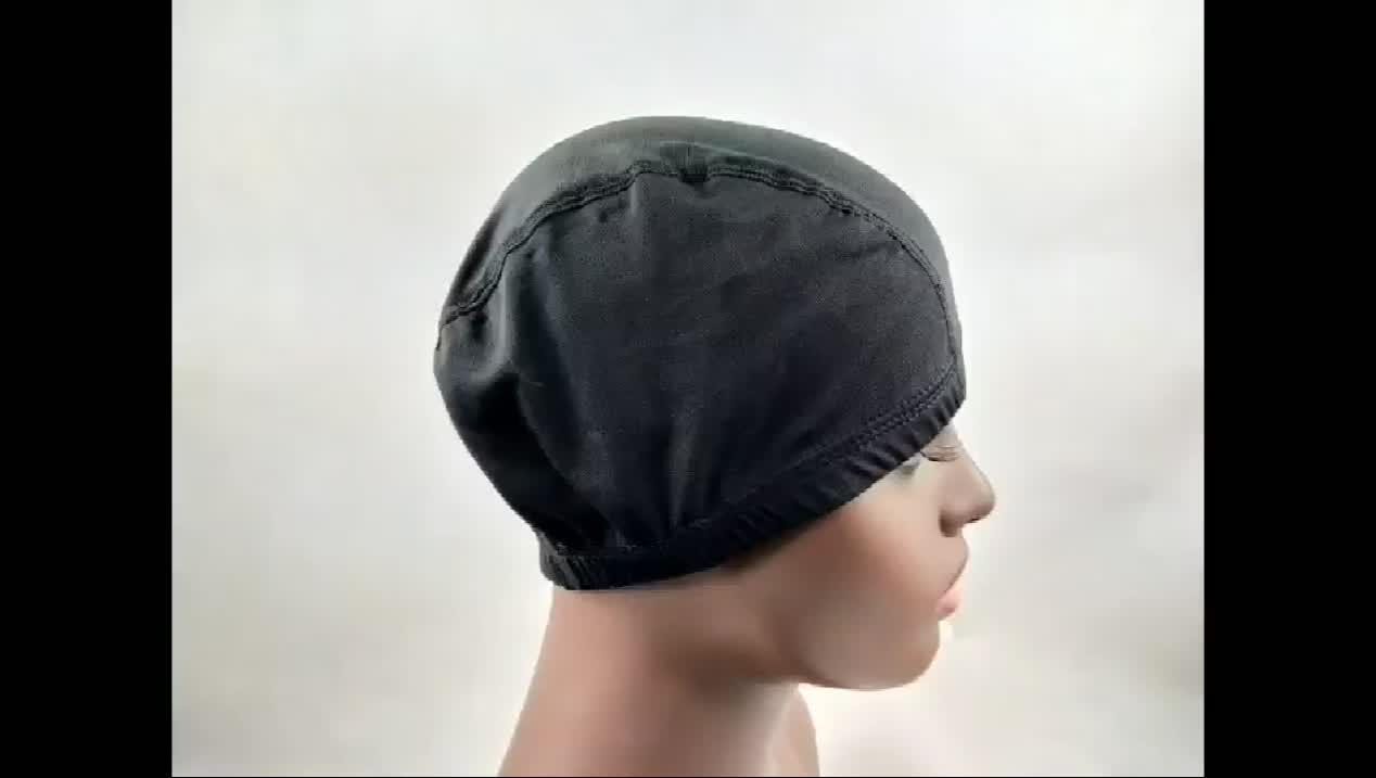 Netto pruik cap voor make pruik, medium size lijmloze ademend bamboevezel spandex stretch mesh weven pruik caps