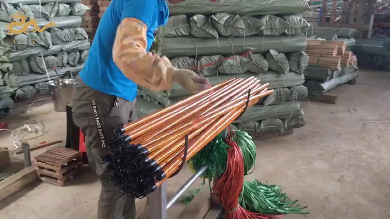 Wood Floor Cleaning PVC Cover A Wooden Mop Stick In Vietnam