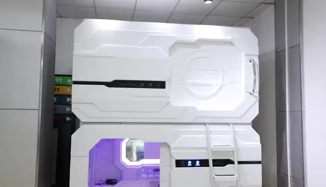 Durable ABS material sleep pod capsule bed sleepbox hotel funiture resting bed for wholesale for Theme hotel