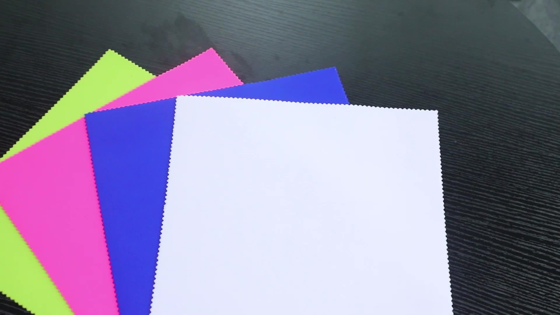 GRS معتمد البيئية المعاد تدويرها RPET الملونة النيوبرين النسيج مصنع قوانغدونغ