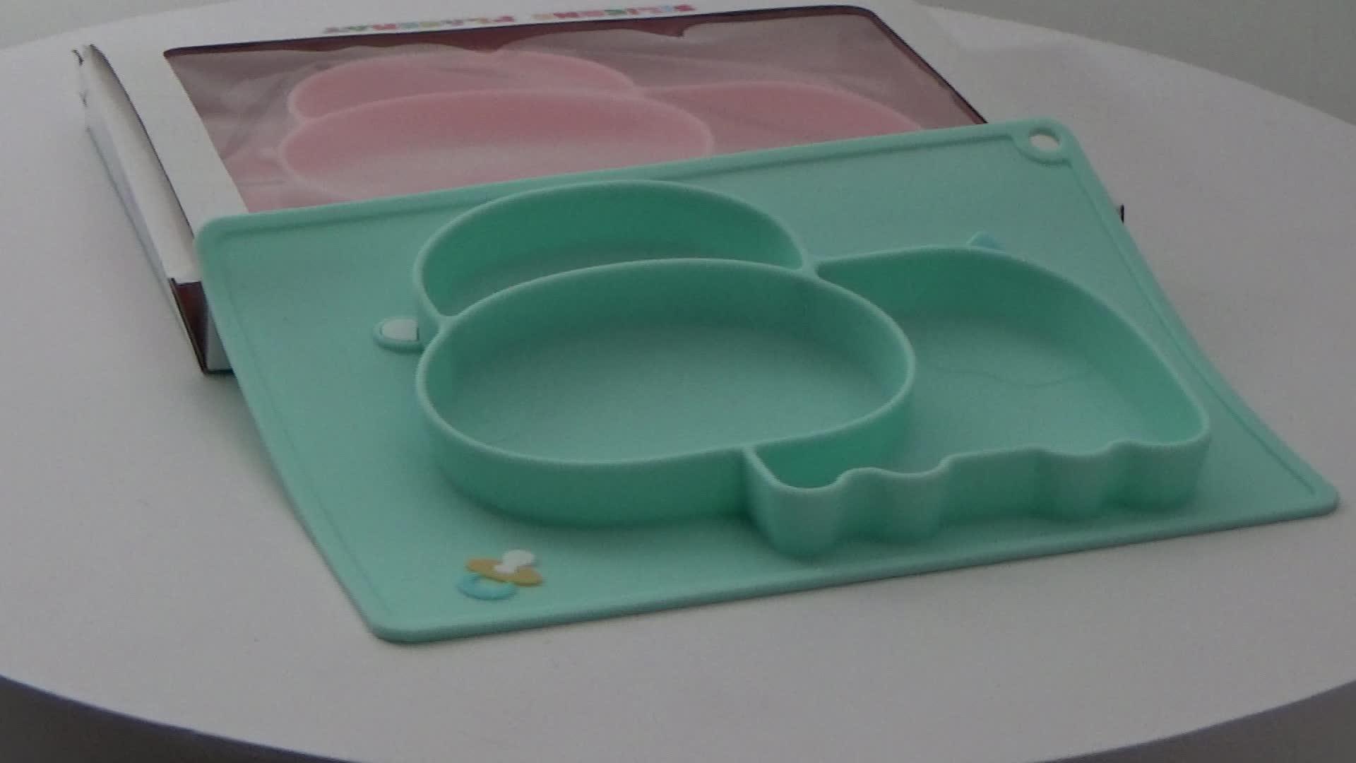 Пользовательские силиконовые детские коврик для корма ребенка Кормление Инструмент placemat поставки