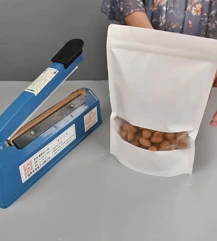 Стоьте Вверх Мешок ziplock коричневый крафт-бумаги ziplock мешки для закусок