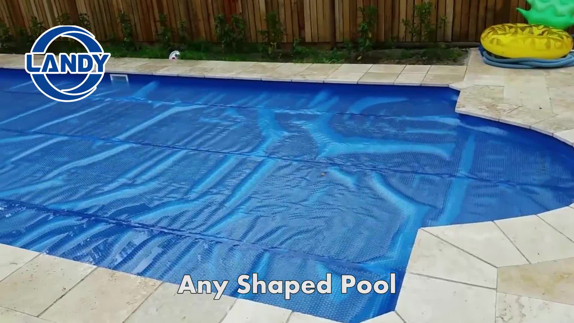 Waterproof Rectangular Swimming Pool Cover Solar Folding