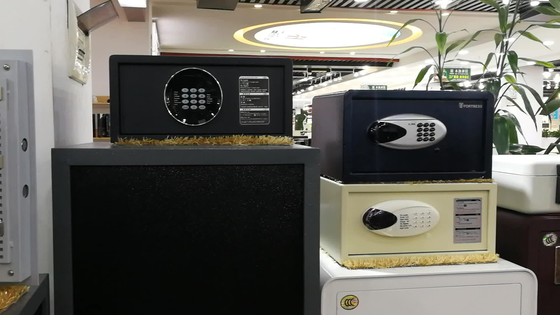 ประสบการณ์ 20 ปีโรงแรมปลอดภัยด้วย digital lock สีดำห้องความปลอดภัยโรงแรมฝากของในตู้เสื้อผ้า