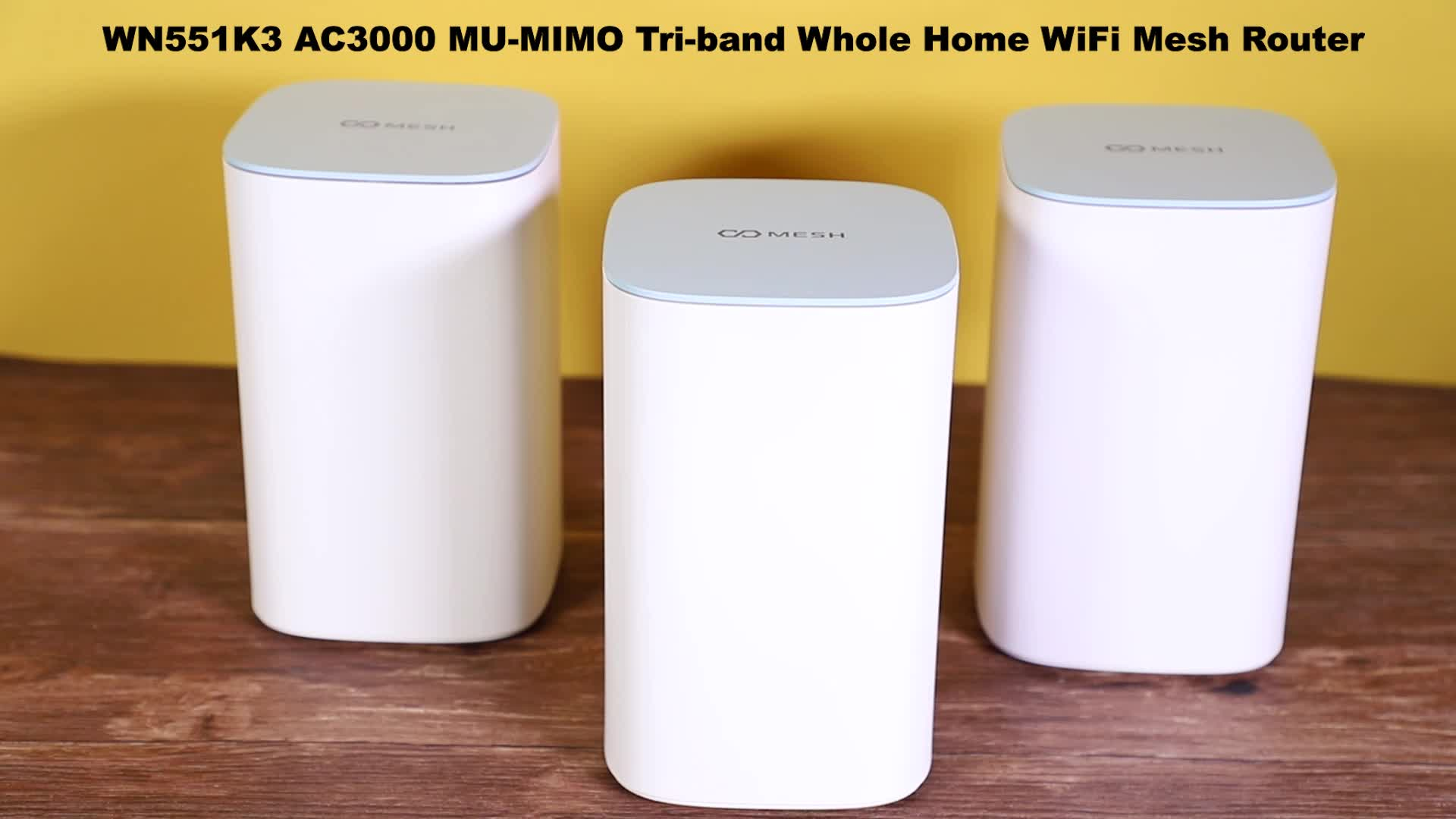 2019 Newest 3XAC3000 Mesh Wifi system WiFi Router and Extender Kit with factory price