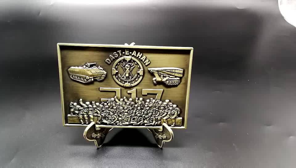 2019 Promotion gift customize 3D bronze imperial family metal souvenir plates
