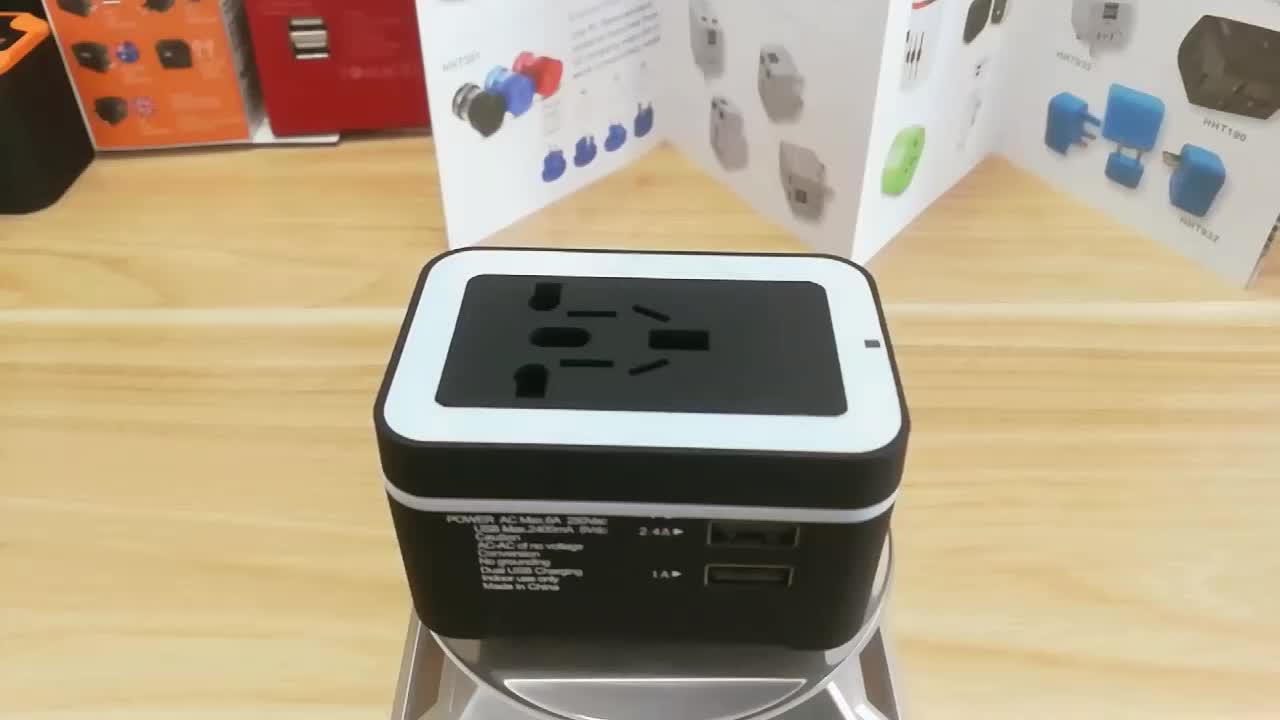 Factory portable universal high quality multi plugs dc ac 5v 2.4A dual usb power adapter