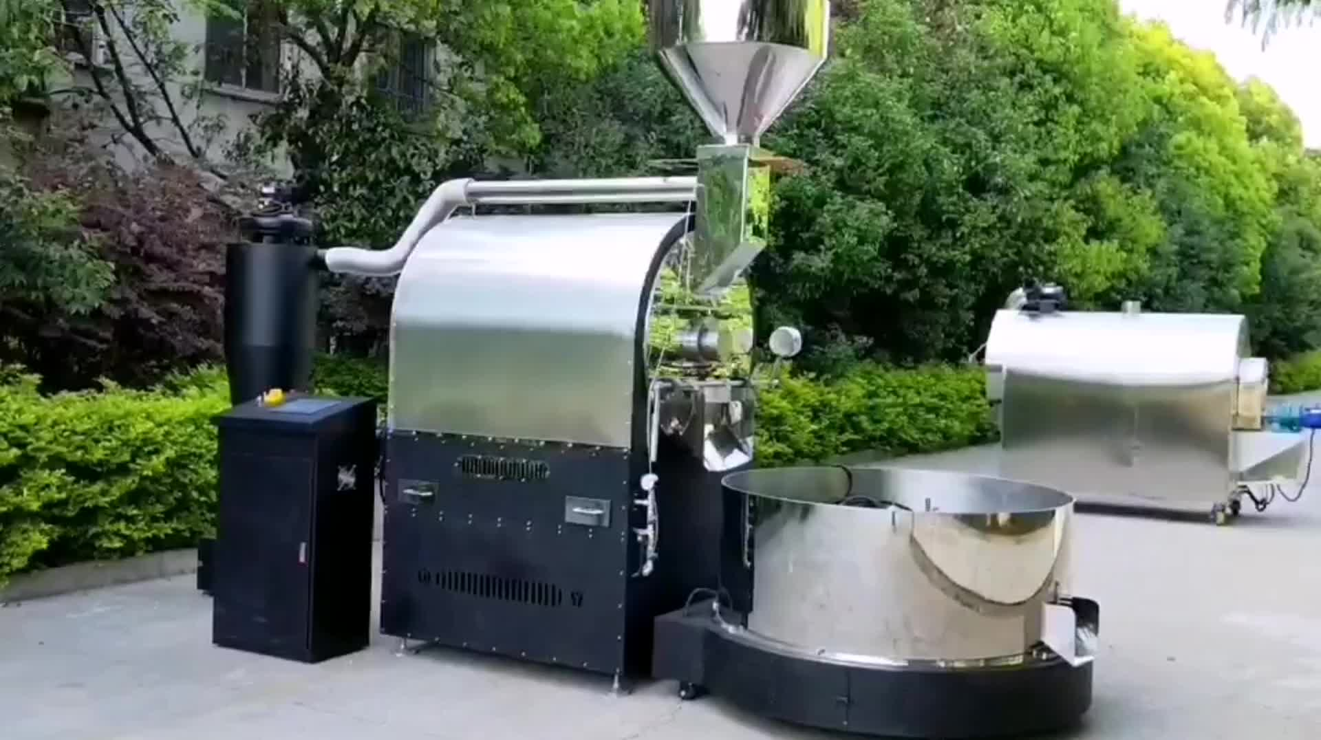 Manufacturer DIRECTLY PLC controller  120kg gas coffee roaster/ Commercial coffee roasting machine 400kg hour