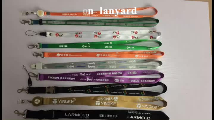 Eco-friendly badge holder lanyard with breakaway buckle