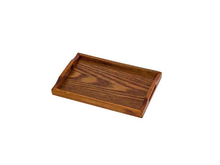 Direct wholesale OEM logo hotel bar serving tray antique vintage wooden trays