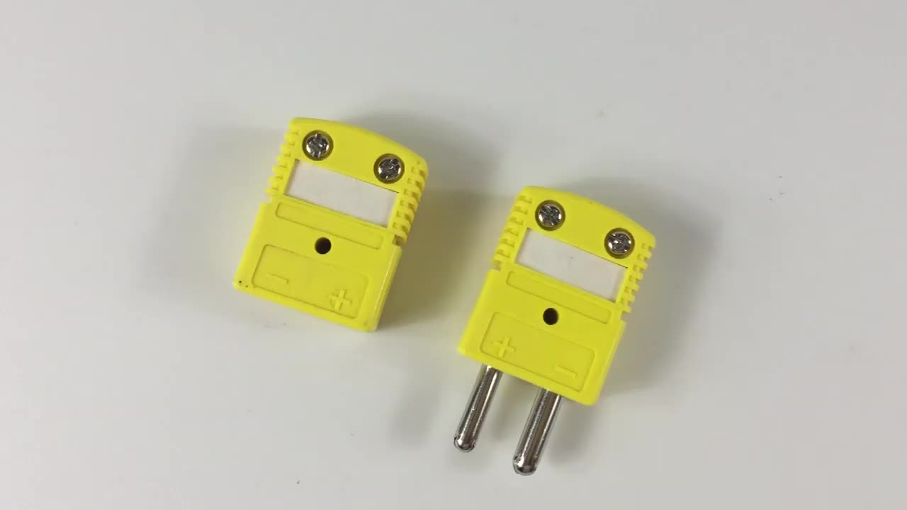 K type thermocouple connector male and female/k type thermocouple connector