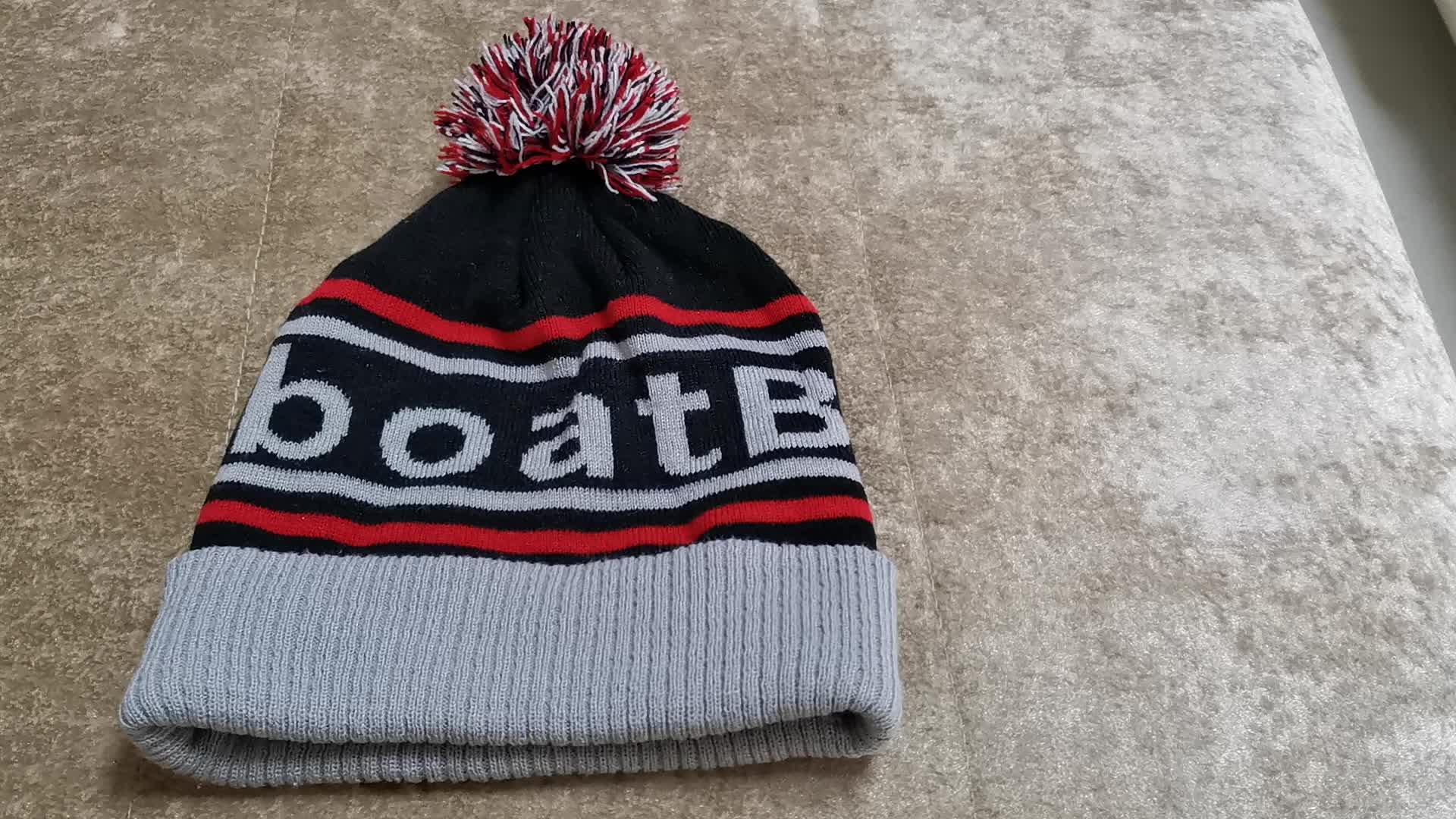Custom Nieuwe sublimatie mutsen over gedrukt winter hoed