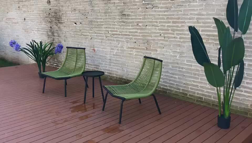 Outdoor möbel terrasse moderne seil Garten stuhl set