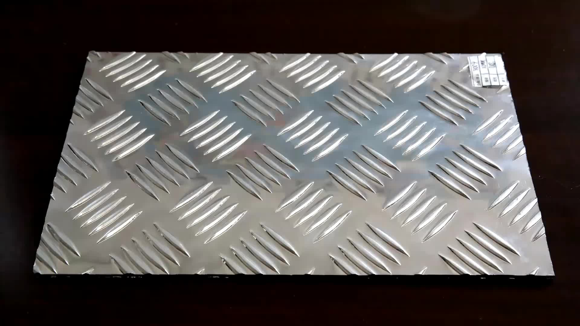Factory Price 5 bar Aluminum Chequered Plate and Sheet Weight