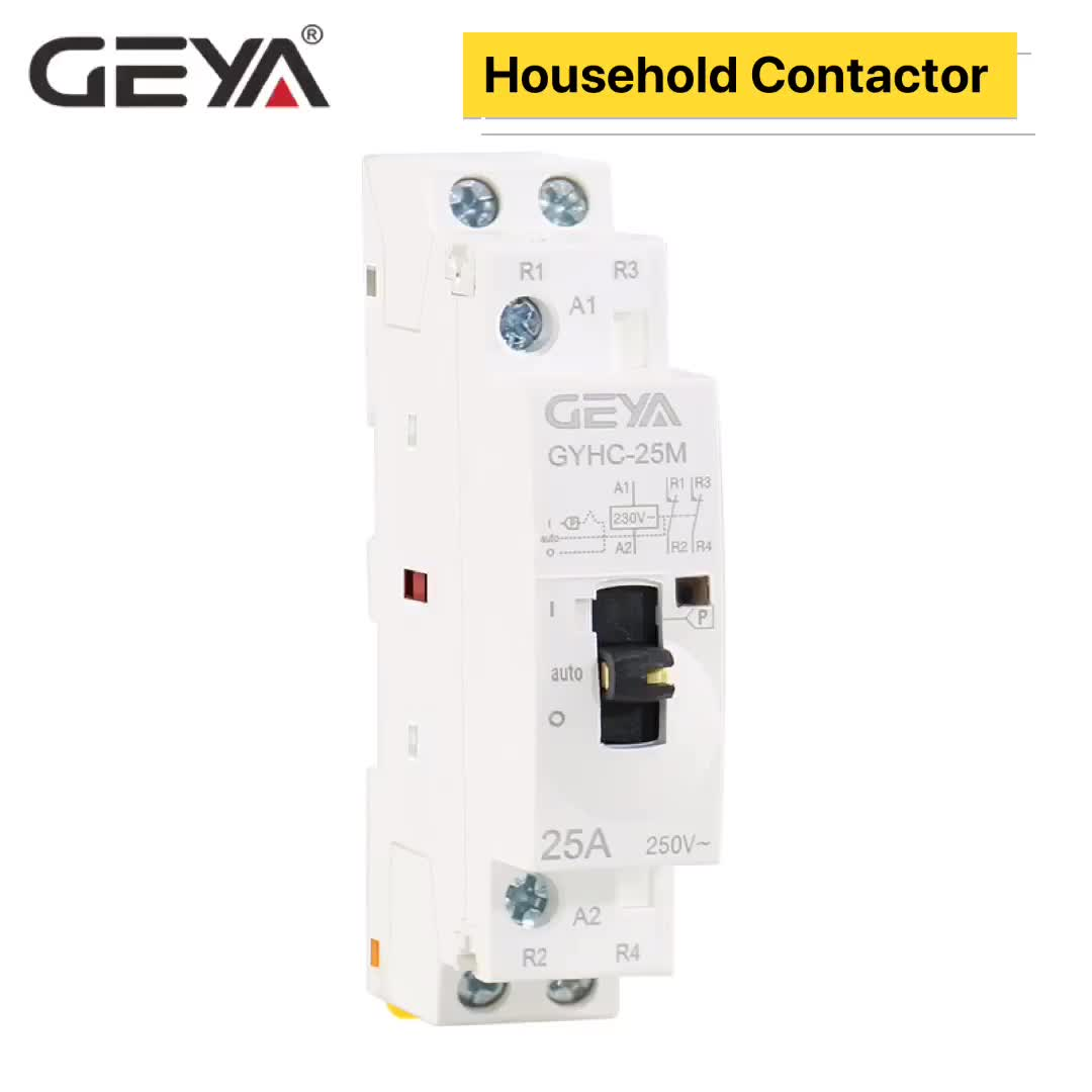 GEYA Hot Sale 2Pole New Manual 2NO or 2NC 220V 63A Household AC Contactor Online Shopping