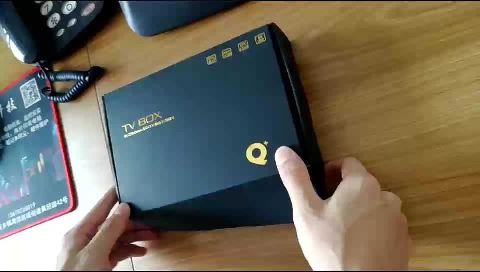 Новый дизайн Qplus 4 Гб оперативной памяти, 32 Гб встроенной памяти Смарт android tv box Q +/Q плюс поддержка HDR + 6K android 9,0 tv box с usb 3,0