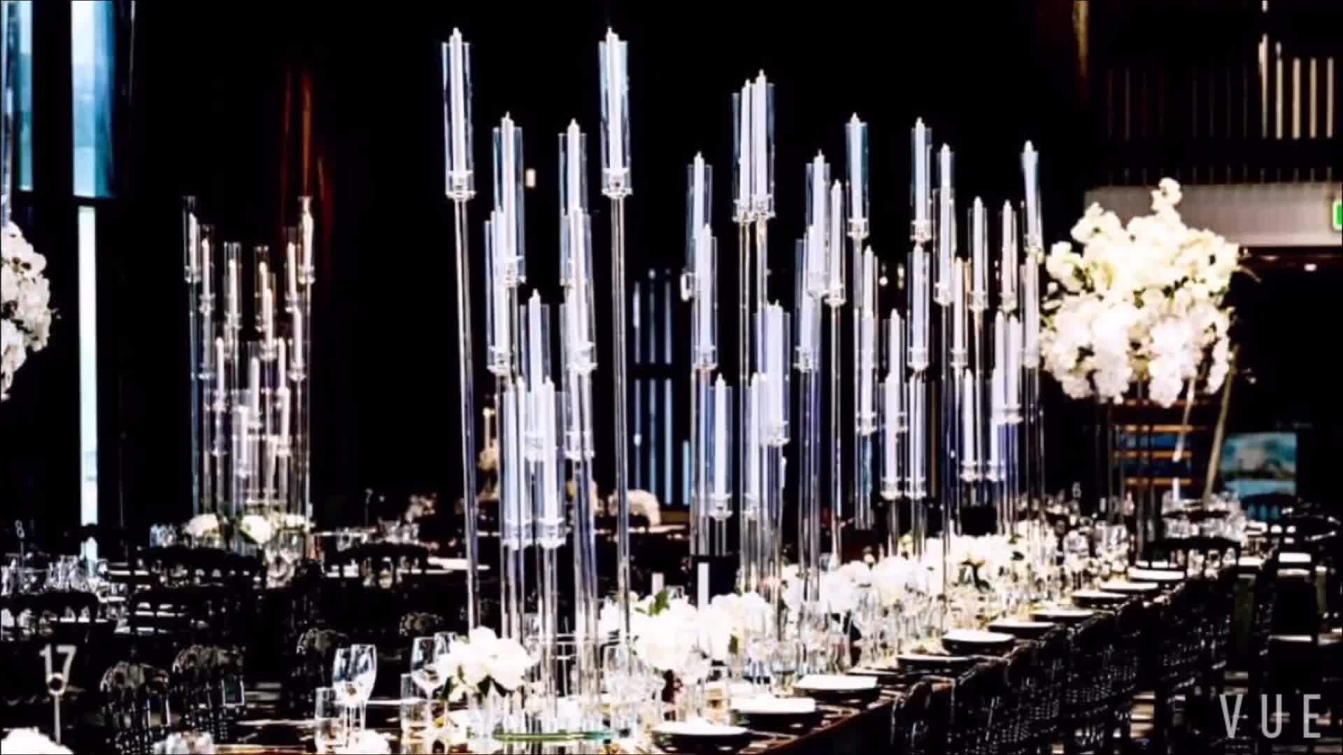 Tall crystal candelabra wedding table centerpieces for wedding decoration