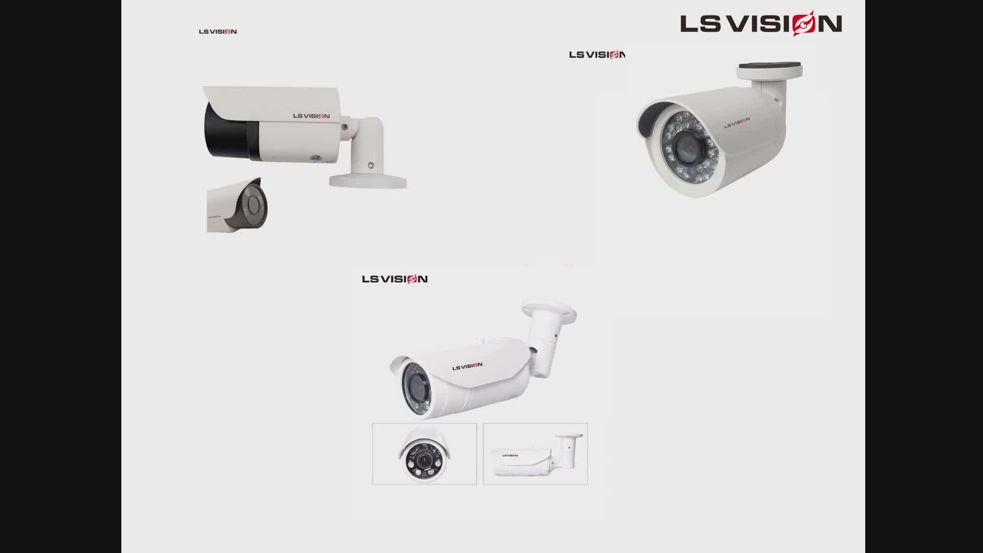 LS VISION Top 10 CCTV Cameras Surveillance System H.265 4mp Motorized Zoom Security IP CCTV Camera