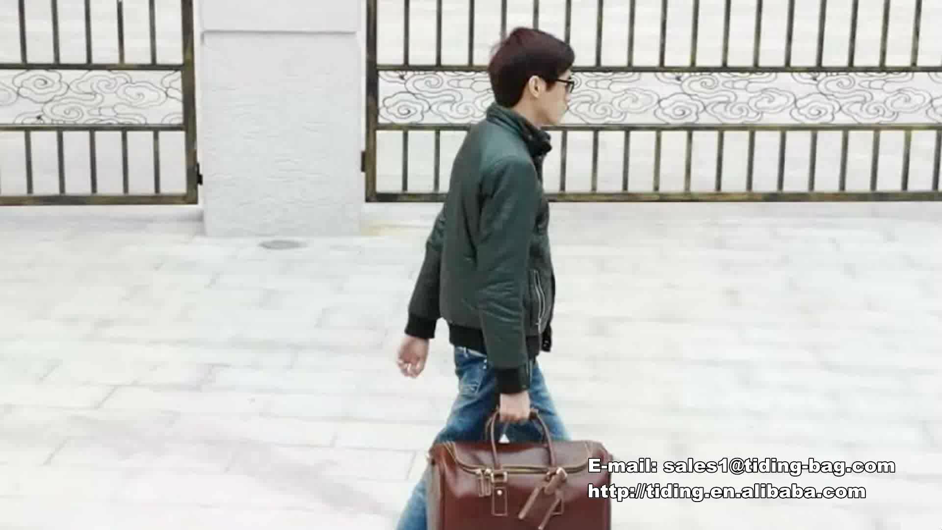 Elegante In Pelle di Cera Olio Borse Donna Uomo Unisex Viaggi Week-end Personalizzato All'ingrosso Genuine Leather Duffle Bag