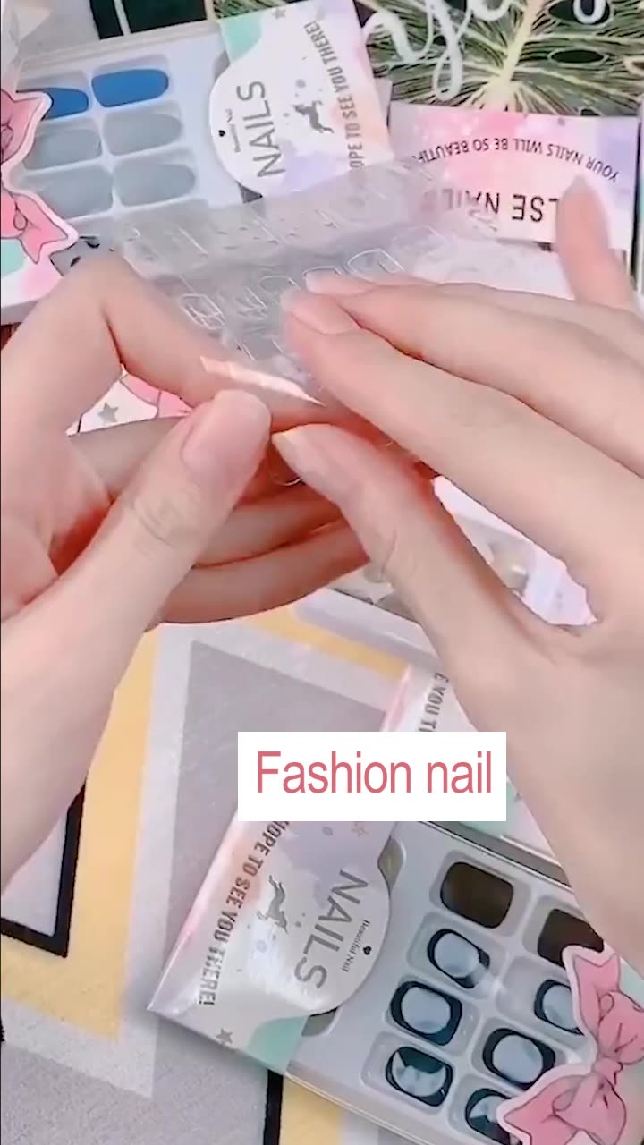 INS New Style Customize Money Stiletto Press On Nails Artificial Fingernails