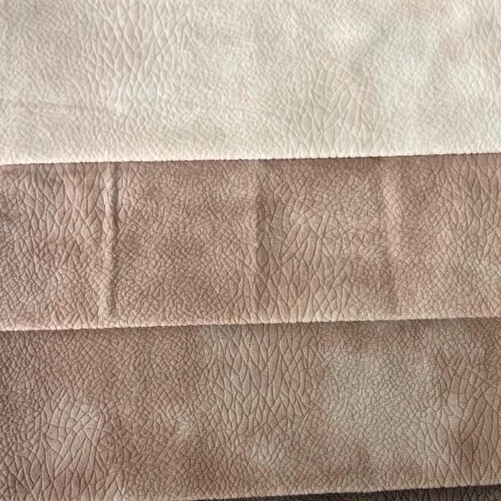 무료 샘플 12 부르고뉴 stocklot 두꺼운 패턴 가짜 가죽 공장