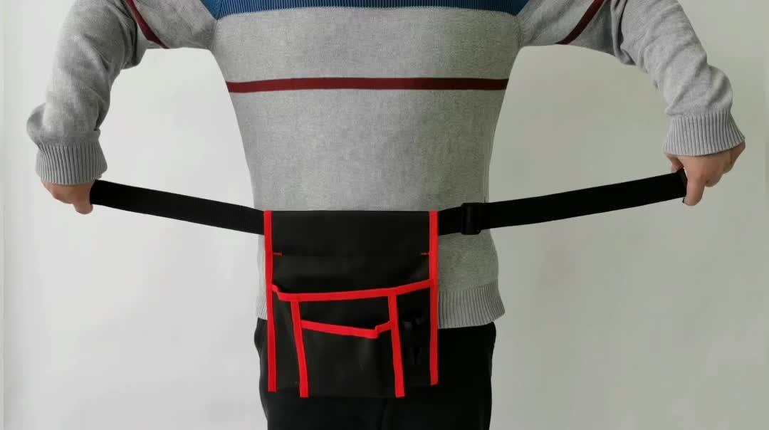 Durable Adjustable Electrical Waist Work Gear Tool Holder Belt Bag Single Side Apron Organizer Utility Pouch