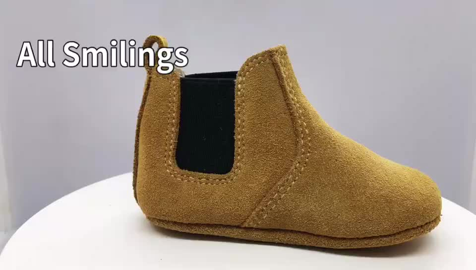 Custom Size Logo Genuine Leather Fashion Baby Kids Girls Super Soft Winter Boots For Winter