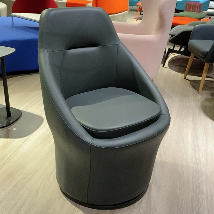 Economic type swivel armchair and lobby waiting leisure chair for public site