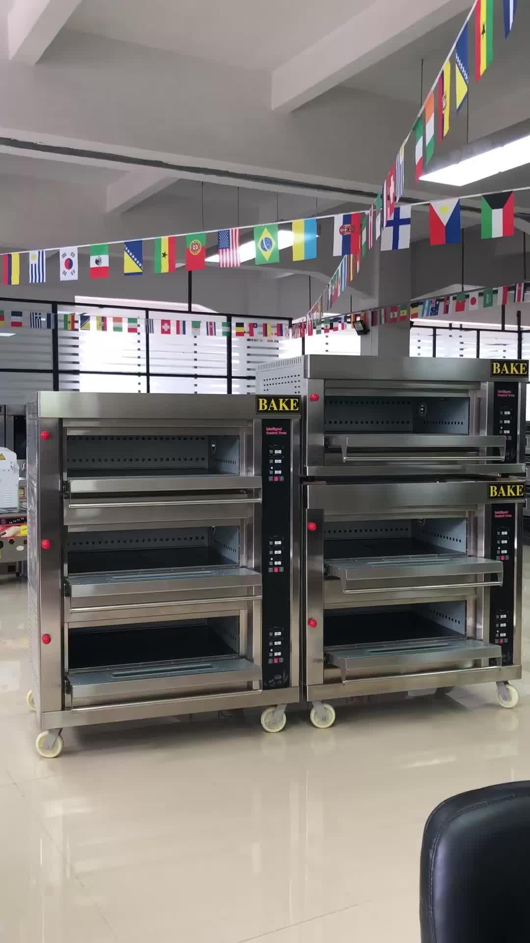 En iyi Fiyat Endüstriyel ekmek pişirme makinesi 3 Güverte Fırın Pasta pişirme fırını