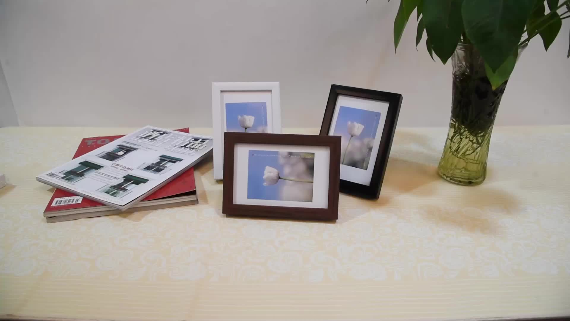 Wholesale 3d Pine Wood Moulding Deep Wooden Memory Box with Photo Frame