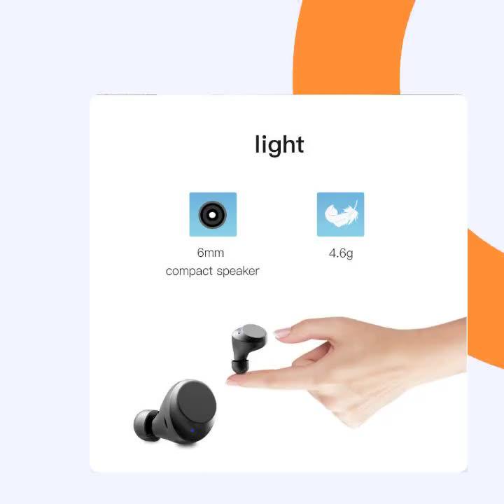 CALION TWS निजी में कान वायरलेस ईरफ़ोन निविड़ अंधकार के बाहर खेल हेडसेट Headphones के साथ Bluetooh 3000 mah चार्ज बॉक्स