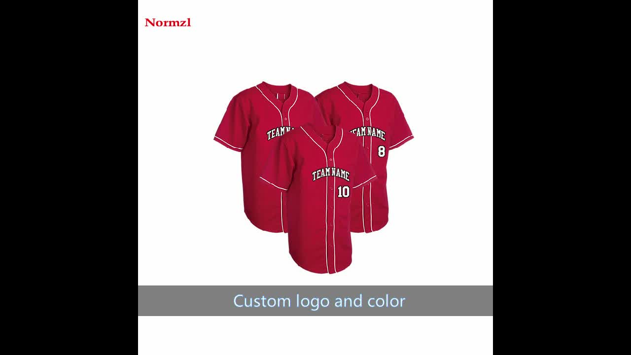 Breathable Quick Dry Polyester Spandex Sublimated Youth Baseball Jersey Custom Printing