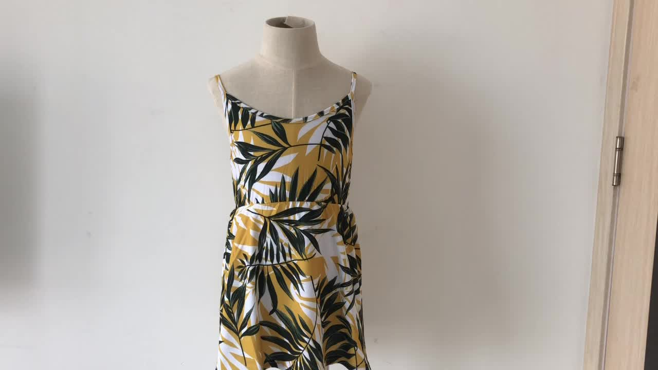 Shine Summer Collection In Tropical Print Mini Dress